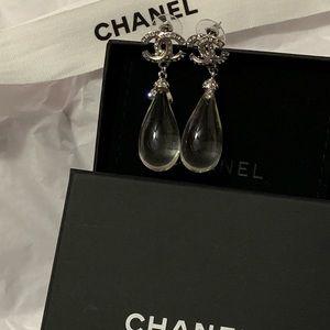 Chanel water drop earrings